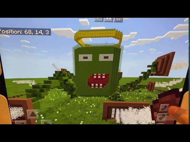 Al the Algae Superhero – Courtney's winning entry in a Minecraft competition – congratulations!